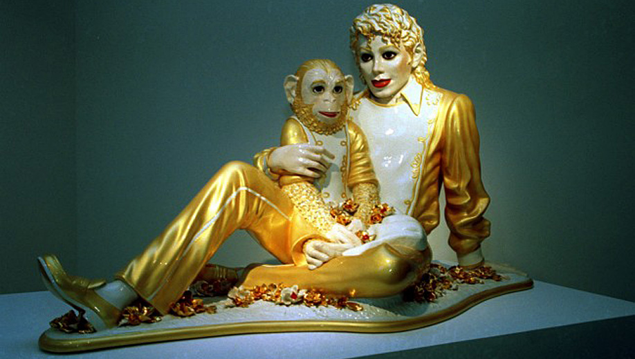 Michael Jackson, 1988 sculpture by Jeff Koons